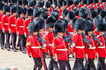 Trooping the Colour 2013: No. 4 Guard, Nijmegen Company Grenadier Guards, during the March Past, in front Company Sergeant Major H L Lawn. Image #546, 15 June 2013 11:37 Horse Guards Parade, London, UK