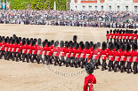 Trooping the Colour 2013: No. 3 Guard, 1st Battalion Welsh Guards, during the March Past. Image #548, 15 June 2013 11:37 Horse Guards Parade, London, UK