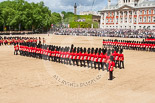 Trooping the Colour 2013: No. 5 Guard, F Company Scots Guards, during the March Past. Image #551, 15 June 2013 11:37 Horse Guards Parade, London, UK