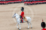 Trooping the Colour 2013: The Field Officer in Brigade Waiting, Lieutenant Colonel Dino Bossi, Welsh Guards, after saluting Her Majesty during the March Past in Quick Time. Image #616, 15 June 2013 11:47 Horse Guards Parade, London, UK