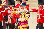 Trooping the Colour 2013: Drum Major Tony Taylor, Coldstream Guards, with the Band of the Coldstream Guards. Image #637, 15 June 2013 11:51 Horse Guards Parade, London, UK