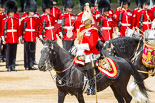 Trooping the Colour 2013: The Director of Music of the Household Cavalry, Major Paul Wilman, The Life Guards, during the Mounted Troops Ride Past. Image #651, 15 June 2013 11:52 Horse Guards Parade, London, UK