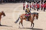 Trooping the Colour 2013: The Ride Past - the King's Troop Royal Horse Artillery. Here the Commanding Officer, Major Mark Edward, Royal Horse Artillery. Image #661, 15 June 2013 11:54 Horse Guards Parade, London, UK