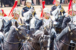 Trooping the Colour 2013: The Third and Forth Divisions of the Sovereign's Escort, The Blues and Royals, during the Ride Past. Image #704, 15 June 2013 11:56 Horse Guards Parade, London, UK