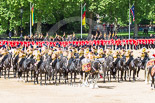 Trooping the Colour 2013: The Mounted Bands of the Household Cavalry during the Ride Past. Image #706, 15 June 2013 11:56 Horse Guards Parade, London, UK