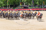 Trooping the Colour 2013: The Mounted Bands of the Household Cavalry during the Ride Past. Image #707, 15 June 2013 11:56 Horse Guards Parade, London, UK