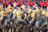 Trooping the Colour 2013: The Mounted Bands of the Household Cavalry during the Ride Past. Image #710, 15 June 2013 11:57 Horse Guards Parade, London, UK