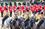 Trooping the Colour 2013: The Mounted Bands of the Household Cavalry during the Ride Past. Image #711, 15 June 2013 11:57 Horse Guards Parade, London, UK