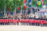 Trooping the Colour 2013: With the Ride Past coming to and end, the King's Troop Royal Horse Artillery are gathering on Horse Guards Road, ready to leave Horse Guards Parade and to march off. Image #737, 15 June 2013 11:59 Horse Guards Parade, London, UK