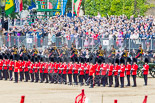 Trooping the Colour 2013: With the Ride Past coming to and end, the King's Troop Royal Horse Artillery are gathering on Horse Guards Road, ready to leave Horse Guards Parade and to march off. Image #739, 15 June 2013 12:00 Horse Guards Parade, London, UK