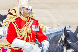 Trooping the Colour 2013: Close-up of the Director of Music Mounted Bands, Major Paul Wilman, The Life Guards. Image #741, 15 June 2013 12:00 Horse Guards Parade, London, UK