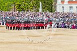 Trooping the Colour 2013: The Adjutant of the Parade in front of No. 6 Guard, No. 7 Company Coldstream Guards, before the March Off. Image #771, 15 June 2013 12:04 Horse Guards Parade, London, UK
