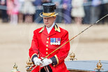 Trooping the Colour 2013: The Head Coachman, Mark Hargreaves, in charge of the glass coach. Image #798, 15 June 2013 12:08 Horse Guards Parade, London, UK