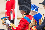 Trooping the Colour 2013: Getting ready to leave the dais, and to board the glass coach - HRH The Duke of Kent and HM The Queen. Image #800, 15 June 2013 12:09 Horse Guards Parade, London, UK