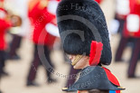 Trooping the Colour 2013: HRH HRH The Duke of Cambridge, Colonel Irish Guards, in a profile view. Image #814, 15 June 2013 12:10 Horse Guards Parade, London, UK