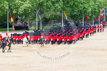 "Trooping the Colour 2013: The March Off - the ""second half"" of the Royal Procession following the guards divisions. Image #859, 15 June 2013 12:13 Horse Guards Parade, London, UK"
