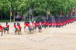 "Trooping the Colour 2013: The March Off - the ""second half"" of the Royal Procession following the guards divisions. Image #863, 15 June 2013 12:13 Horse Guards Parade, London, UK"