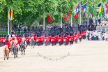 "Trooping the Colour 2013: The March Off - the ""second half"" of the Royal Procession following the guards divisions. Image #865, 15 June 2013 12:13 Horse Guards Parade, London, UK"