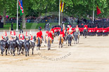 "Trooping the Colour 2013: The March Off - the ""second half"" of the Royal Procession following the guards divisions. Image #866, 15 June 2013 12:13 Horse Guards Parade, London, UK"