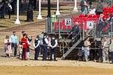 Visitors arriving at the St James's Park side of Horse Guards Parade,