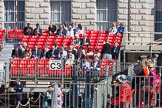 The Colonel's Review 2015: 9:30 am - more and more spectators are taking their places.. Horse Guards Parade, Westminster, London,  United Kingdom, on 06 June 2015 at 09:33, image #17