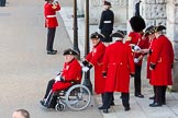 The Colonel's Review 2015: A group of Chelsea Pensioners arrives at Horse Guards Parade.. Horse Guards Parade, Westminster, London,  United Kingdom, on 06 June 2015 at 09:34, image #18