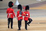 during The Colonel's Review {iptcyear4} (final rehearsal for Trooping the Colour, The Queen's Birthday Parade)  at Horse Guards Parade, Westminster, London, 2 June 2018, 10:17.