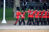 during The Colonel's Review {iptcyear4} (final rehearsal for Trooping the Colour, The Queen's Birthday Parade)  at Horse Guards Parade, Westminster, London, 2 June 2018, 10:28.