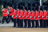 during The Colonel's Review {iptcyear4} (final rehearsal for Trooping the Colour, The Queen's Birthday Parade)  at Horse Guards Parade, Westminster, London, 2 June 2018, 10:31.