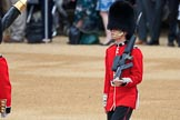 Colour Sentry Guardsman Sean Cunningham (21) during The Colonel's Review 2018 (final rehearsal for Trooping the Colour, The Queen's Birthday Parade)  at Horse Guards Parade, Westminster, London, 2 June 2018, 10:32.
