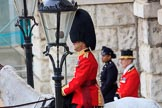 during The Colonel's Review {iptcyear4} (final rehearsal for Trooping the Colour, The Queen's Birthday Parade)  at Horse Guards Parade, Westminster, London, 2 June 2018, 10:41.