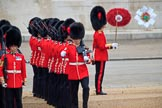 during The Colonel's Review {iptcyear4} (final rehearsal for Trooping the Colour, The Queen's Birthday Parade)  at Horse Guards Parade, Westminster, London, 2 June 2018, 10:45.