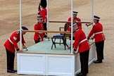 during The Colonel's Review {iptcyear4} (final rehearsal for Trooping the Colour, The Queen's Birthday Parade)  at Horse Guards Parade, Westminster, London, 2 June 2018, 10:52.