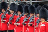 during The Colonel's Review {iptcyear4} (final rehearsal for Trooping the Colour, The Queen's Birthday Parade)  at Horse Guards Parade, Westminster, London, 2 June 2018, 11:35.