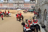 during The Colonel's Review {iptcyear4} (final rehearsal for Trooping the Colour, The Queen's Birthday Parade)  at Horse Guards Parade, Westminster, London, 2 June 2018, 12:16.