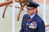 RAF Group Captain at Trooping the Colour 2018, The Queen's Birthday Parade at Horse Guards Parade, Westminster, London, 9 June 2018, 09:18.