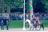 during Trooping the Colour {iptcyear4}, The Queen's Birthday Parade at Horse Guards Parade, Westminster, London, 9 June 2018, 09:26.