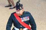 A Royal Regiment of Scotland Major at Trooping the Colour 2018, The Queen's Birthday Parade at Horse Guards Parade, Westminster, London, 9 June 2018, 09:45.