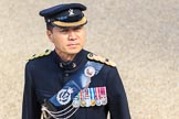 A Major of the Queen's Gurkha Signals before Trooping the Colour 2018, The Queen's Birthday Parade at Horse Guards Parade, Westminster, London, 9 June 2018, 10:07.