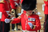 Garrison Sergeant Major (GSM) Headquarters London District, Warrant Officer Class 1 Andrew (Vern) Strokes before Trooping the Colour 2018, The Queen's Birthday Parade at Horse Guards Parade, Westminster, London, 9 June 2018, 10:23.