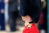 Close view of the Parade Adjutant, Captain HC Codrington, Coldstream Guards (30), during Trooping the Colour 2018, The Queen's Birthday Parade at Horse Guards Parade, Westminster, London, 9 June 2018, 10:23.