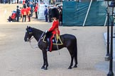 Parade Adjutant, Captain HC Codrington, Coldstream Guards (30) on horseback before Trooping the Colour 2018, The Queen's Birthday Parade at Horse Guards Parade, Westminster, London, 9 June 2018, 10:23.