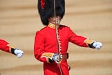 The Subaltern, Captain James Potter (27), Number Four Guard, No 7 Company Coldstream Guards, during Trooping the Colour 2018, The Queen's Birthday Parade at Horse Guards Parade, Westminster, London, 9 June 2018, 10:32.