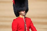 The Subaltern, Captain CWM McLean, Number Three Guard, 1st Battalion Coldstream Guards, during Trooping the Colour 2018, The Queen's Birthday Parade at Horse Guards Parade, Westminster, London, 9 June 2018, 10:32.