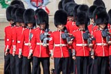 Number Four Guard, No 7 Company Coldstream Guards changing formation during Trooping the Colour 2018, The Queen's Birthday Parade at Horse Guards Parade, Westminster, London, 9 June 2018, 10:37.