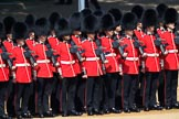 Number Five Guard, Nijmegen Company, Grenadier Guards after changing formation, during Trooping the Colour 2018, The Queen's Birthday Parade at Horse Guards Parade, Westminster, London, 9 June 2018, 10:37.