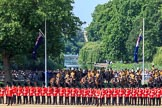 during Trooping the Colour {iptcyear4}, The Queen's Birthday Parade at Horse Guards Parade, Westminster, London, 9 June 2018, 10:45.