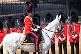 during Trooping the Colour {iptcyear4}, The Queen's Birthday Parade at Horse Guards Parade, Westminster, London, 9 June 2018, 10:46.