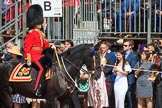 during Trooping the Colour {iptcyear4}, The Queen's Birthday Parade at Horse Guards Parade, Westminster, London, 9 June 2018, 10:55.