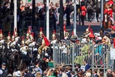 during Trooping the Colour {iptcyear4}, The Queen's Birthday Parade at Horse Guards Parade, Westminster, London, 9 June 2018, 10:57.